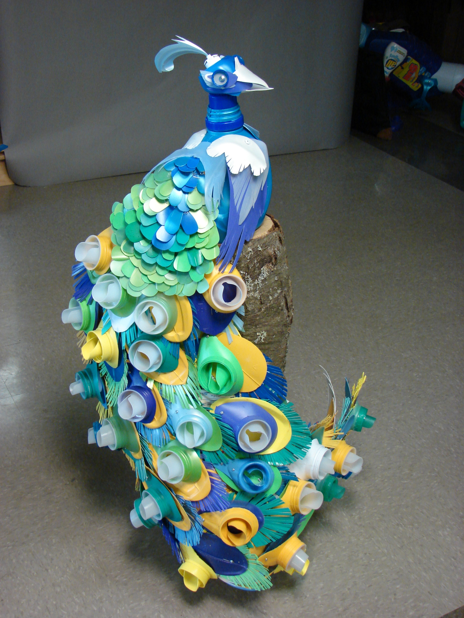 Janmashtami Home Decoration Artwork Peacock Made From Recycled Plastic One Island